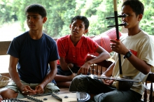 Children injured by landmines learn how to play music
